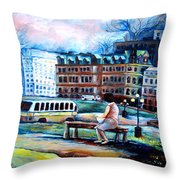 The Peace Tower In Ottawa Throw Pillow