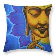 The Peaceful Buddha Throw Pillow