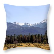 The Peaks - Where Earth Meets Heaven Throw Pillow by Christine Till