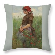 The Peasant Throw Pillow