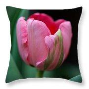 The Peculiar Pink Tulip Throw Pillow
