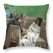 The Pedicure Throw Pillow