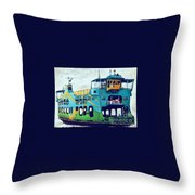 The Penang Ferry Throw Pillow