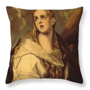 The Penitent Magdalene 1578 Throw Pillow