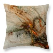 The Penitent Man - Fractal Art Throw Pillow