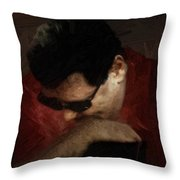 The Penitent Throw Pillow