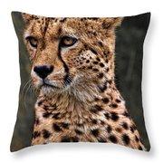 The Pensive Cheetah Throw Pillow