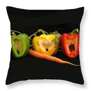 The Pepper Trio Throw Pillow