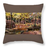 The Pequots Throw Pillow