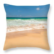 The Perfect Beach - Kapaa Kauai Hawaii Throw Pillow