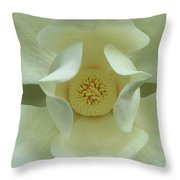 The Perfect Opening Magnolia Flower Art Throw Pillow