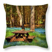 The Perfect Picnic Spot Throw Pillow