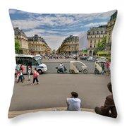 The Perfect View- Avenue De L'opera Paris  Throw Pillow
