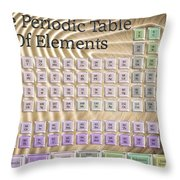 The Periodic Table Of Elements 1 Throw Pillow