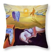 The Persistence Of Memory-amadeus Series  Throw Pillow