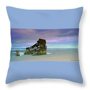 The Peter Iredale Throw Pillow