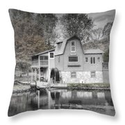 The Peterson Mill In Saugatuck Michigan Throw Pillow