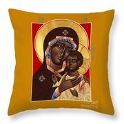 The Petrovskya Icon Of The Mother Of God 128 Throw Pillow