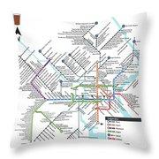 The Philadelphia Pubway Map Throw Pillow