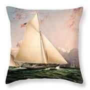 The Philip R. Paulding In New York Harbor Throw Pillow