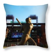 The Phillies - Mike Schmidt Throw Pillow by Bill Cannon