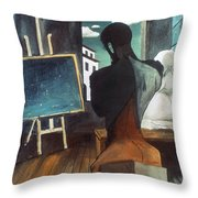 The Philosopher And The Poet Throw Pillow