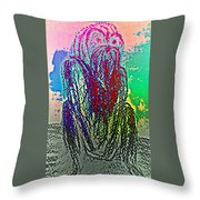 Thinking Can Refer To The Act Of Producing Thoughts Or The Process Of Producing Thoughts Throw Pillow by Hilde Widerberg