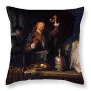 The Physician 1653  Throw Pillow