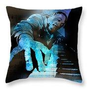 The Piano Man Throw Pillow by Paul Sachtleben