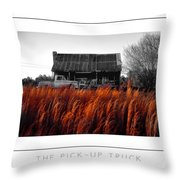 The Pick-up Truck Poster Throw Pillow