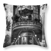 The Pickle Barrel 3 B W Flatiron Architecture Chattanooga Tennessee Art Throw Pillow