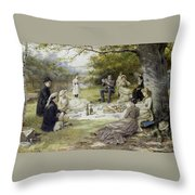 The Picnic Throw Pillow