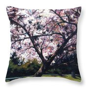 The Picnic Table Throw Pillow