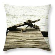 An Old Pier Throw Pillow