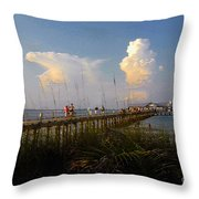 The Pier On Anna Maria Island Throw Pillow