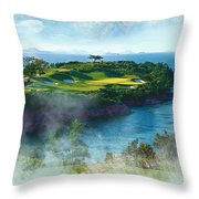 The Pine And Beach Links Throw Pillow