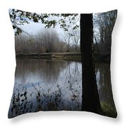 The Pine River Throw Pillow