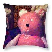 The Pink Bear Throw Pillow