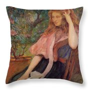 The Pink Cape Throw Pillow