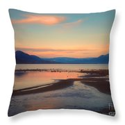 The Pink Clouds Of January Throw Pillow