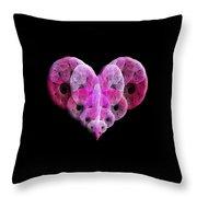 The Pink Heart Throw Pillow