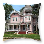 The Pink House 2 Throw Pillow