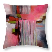 The Pink Piece Of Purity Throw Pillow