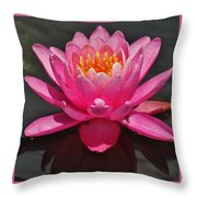 The Pink Water Lily Throw Pillow