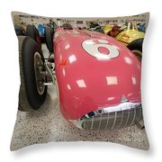 The Pink Zink 1955 Indy 500 Winner Throw Pillow