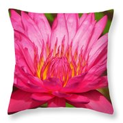 The Pinkest Of Pinks Throw Pillow by Lori Frisch