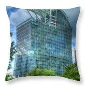 The Pinnacle Reflections Office Buildings Buckhead Atlanta Art Throw Pillow