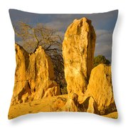 The Pinnacles Nambung National Park Australia Throw Pillow