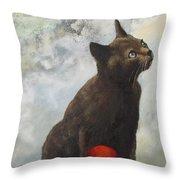 The Pious Cat Throw Pillow