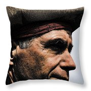The Pirate Throw Pillow by David Patterson